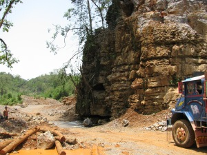 The quarry at Lumshnong. The stream, I was told, was one of the entrances to the Kotsati-Umlawan System (Photo: Shyam G Menon)
