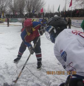 Ice hockey in Ladakh (Photo: courtesy Chozang Namgial)
