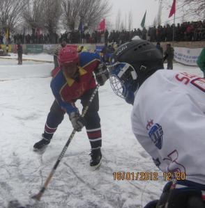 Ice hockey in Ladakh (Photo: courtesy Chozang Namgial)