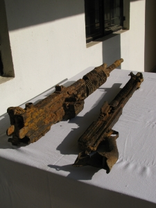 The old rusted guns unearthed at the Jairampur military camp (Photo: Shyam G Menon)