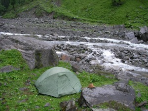 Camped beside the Rupin River (Photo: Suma Rao)