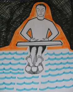 I sat there like a Buddha (Illustration: Shyam G Menon)