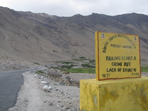 The sign board near camp (Photo: Shyam G Menon)