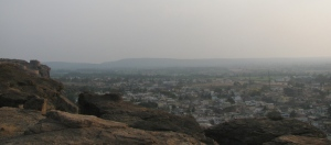 Badami as seen from the top of the adjacent hill (Photo: Shyam G Menon)
