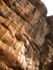 The rock face hosting Ganesha (Photo: Shyam G Menon)