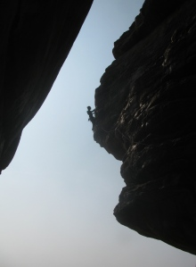 Climbing in Badami (Photo: Shyam G Menon)