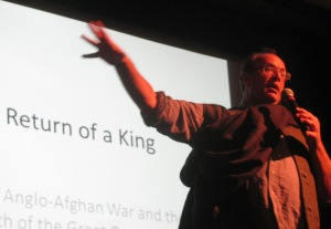 William Dalrymple speaking at the Mussoorie festival (Photo: Shyam G Menon)