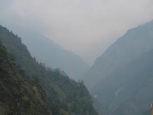 Bona's view; lost to haze again (Photo: Shyam G Menon)