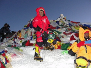 Love Raj on the summit of Everest (Photo: courtesy Love Raj Singh Dharmshaktu)