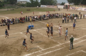 Volleyball final in progress (Photo: Shyam G Menon)
