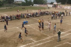 Volleyball final in progress (Photo: Shyam G Menon)