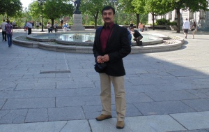 The author of the book, Wing Commander K.K. Nair.