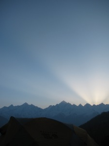 Sunrise; near Munsyari, Kumaon (Photo: Shyam G Menon)