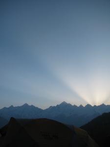 Sunrise; near Munsyari, Kumaon (Photo: Shyam G Menon)
