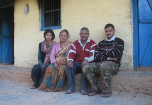 The family we stayed with (photo: Shyam G Menon)
