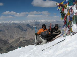 Choszang and Rigzin on the summit (Photo: Shyam G Menon)