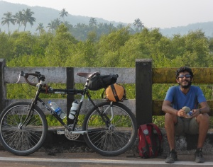 Surly, Ganesh and a day from the trip (Photo: courtesy Ganesh Nayak)