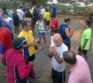 Runners on Marine Drive after their monthly Bandra-NCPA run (Photo: (Latha Venkatraman)