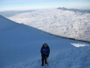 On Cotopaxi (Photo: by arrangement)