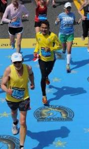 Bhasker (center) at the 2014 Boston Marathon (Photo: courtesy Bhasker)