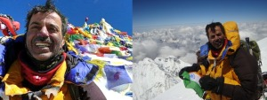 On the summit of Mt Everest (Photos: courtesy Dr Murad Lala; Photo montage: Shyam G Menon)
