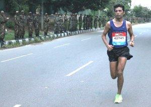 Dnyaneshwar at the 2014 Bengaluru Marathon