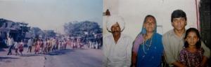 (Left) An old photo of Malakoli (Right) Dnyaneshwar (second from right) with his father Dhondiram Tidke, mother Bhivarabai and sister, Neetha (Photos: courtesy Dnyaneshwar. Photo montage: Shyam G Menon)