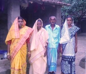 The family back in Shikarpur; parents AnsarAli Khan and Moina Bibi with Abbas' sisters Monjila Shaikh and Tanjila Malik (Photo: by arrangement)