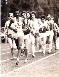 Edward (Eddie) Sequeira (in front) at a race in Germany (Photo: by arrangement)