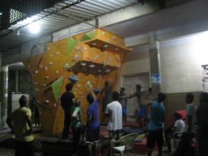 A typical evening at the Podar College-wall (Photo: Shyam G Menon)