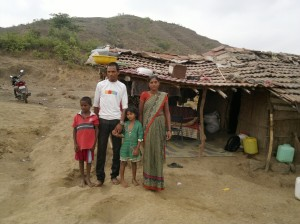 Kamlya, his wife Kalpana and their children, Prathama and Raj (Photo: Latha Venkatraman)