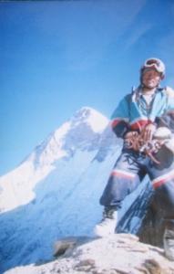 Bodh on Longstaff Col; seen behind is Nanda Devi main summit (Photo: by arrangement)
