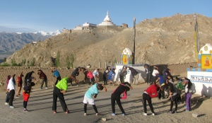 Stretch circle near Shanti Stupa, Leh (Photo: Shyam G Menon)
