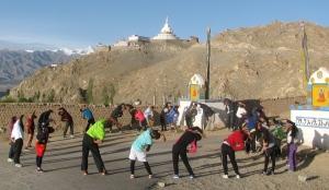 Stretch circle near Shanti Stupa, Leh (Photo: Shyam G Menon)