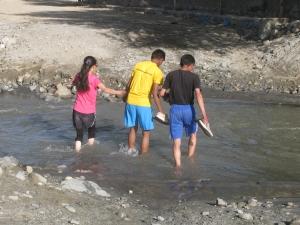 Crossing the stream en route (Photo: Shyam G Menon)