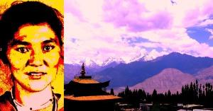File photo of Rigzen Angmo: by arrangement; photo of Leh: Shyam G Menon. Imaging of both: Shyam G Menon
