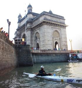 Kaustubh casting off from near the Gateway of India, Mumbai (Photo: courtesy Kaustubh Khade)