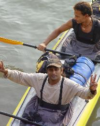 Sanjeev Kumar (in front) and Dev Dutta; from their 2005 expedition (Photo: courtesy Sanjeev Kumar)