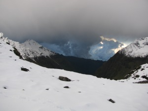 Bad weather approaching Camp 1 (Photo: Shyam G Menon)