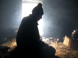 Prem Singh at the dhera, our Base Camp (Photo: Shyam G Menon)