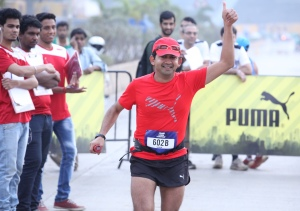Girish, at the Puma Urban Stampede, Mumbai (Photo: courtesy Girish Mallya)
