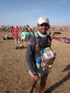 Girish,during the Marathon des Sables in the Sahara (Photo: courtesy Girish Mallya)