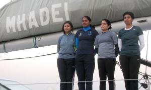 From left: Sub Lieutenant Payal Gupta, Lieutenant P. Swathi, Lieutenant Pratibha Jamwal and Lieutenant Commander Vartika Joshi (Photo: Shyam G Menon)
