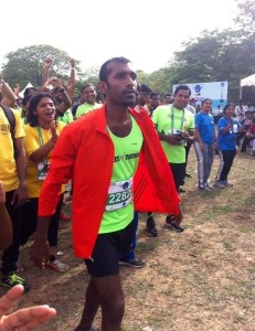Soji at a race in Kochi (Photo: courtesy Soji Mathew)