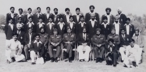 1982-83 Air Force team prior to taking part in the Inter Services Athletics Championship held in Kochi, Kerala (Photo: courtesy Kothandapani)