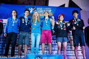 The winners at Kazo (Photo: courtesy IFSC)