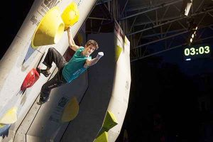 Kilian Fischhuber at an earlier edition of the World Cup (Photo: courtesy IFSC)