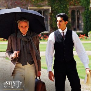Jeremy Irons (left) and Dev Patel in The Man Who Knew Infinity (Please note: this photo was downloaded from the Facebook page of the movie.)