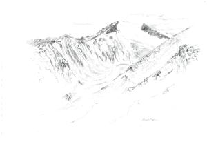 View from Khardung La, Ladakh (Illustration: Shantanu Pandit)