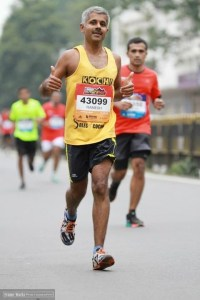 Ramesh at the 2014 Bengaluru Marathon (Photo: courtesy Ramesh Kanjilimadhom)